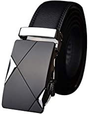 Satyam Kraft ARTIFICIAL PU leather (Pack of 1) Adjustable Buckle Belts Fashion Waist Strap BELTS For Casual and Formal - Belt For Men and Boys, color Design For Daily Use