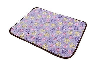Whyyudan Chien Chats Chiot Refroidissement Pad Coussin Froid Lit Bambou Tapis de Glace Mat Matelas de Dissipation de Chaleur pour Été et Hiver Violet M40 * 29cm