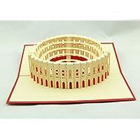 BC Worldwide Ltd Handgemachte 3D Pop-up-Karte Italien Rom Colosseum Geburtstag Valentines Vatertag Muttertag Ostern Halloween Thanksgiving Weihnachten Xmas Hochzeit Party Meeting Einladungskarte Geschenk für ihn ihr Familienfreund