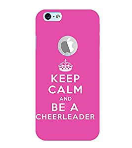 Fuson Designer Back Case Cover for Apple iPhone 6 (Logo View Window Case) (Keep Calm Be Quiet Be Cool CheerLeader Supporting)