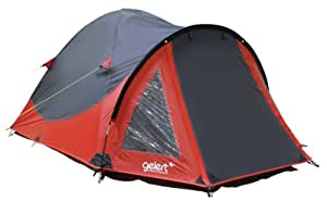 Gelert Rocky 2 Person Tent - Mars Red / Charcoal