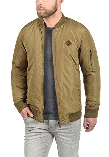 !Solid Park Herren Bomberjacke Übergangsjacke Jacke Mit Stehkragen, Größe:S, Farbe:Ermine (5944)