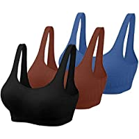 Pipal Women's & Girls' Non-Padded Non-Wired Sports Bra (Pack of 3) (Free Size, Fits Best- 28B-34B)