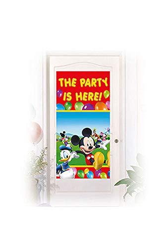 (Procos 84656.–Deko-Mickey Mouse Club House, 150x 75cm, mehrfarbig)