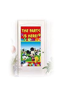 Procos 84656 - Decoración para la puerta de Mickey Mouse Club House, 150 x 75 cm, multicolor