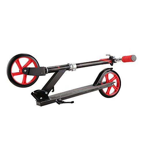 Elektroroller BEBK mit Samsung 4.4 Ah Batterie, Höchstgeschwindigkeit bis 23 km/h, Faltbar Licht Elektro Scooter für Jugendliche und Erwachsene (schwarz) - 3