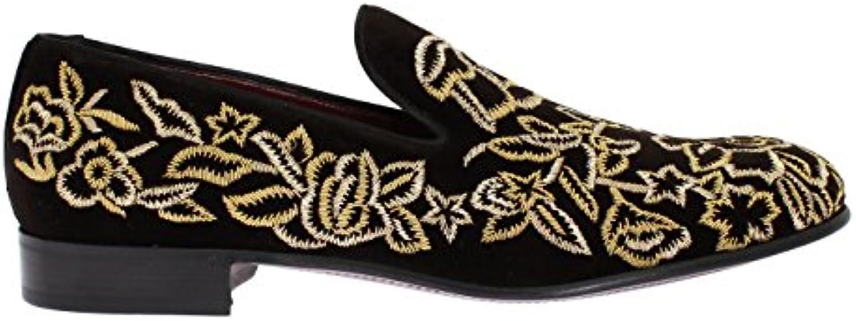 Dolce & Gabbana - Mocasines de Terciopelo para Hombre Marrón Marrón