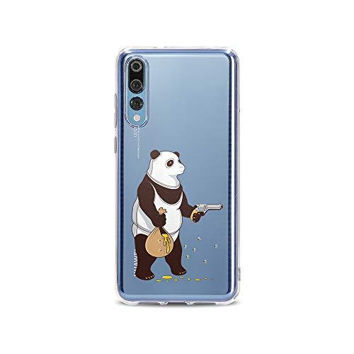 Kostüm Honig Und Bär - licaso P20 Pro P20pro Handyhülle TPU mit Panda klaut Honig Print Motiv - Transparent Cover Schutz Hülle Aufdruck Lustig Funny Druck