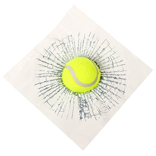 Preisvergleich Produktbild SKS Distribution® Funny 3D Tennisball zerschlägt Fenster Auto Aufkleber Auto Zubehör Body Car Styling