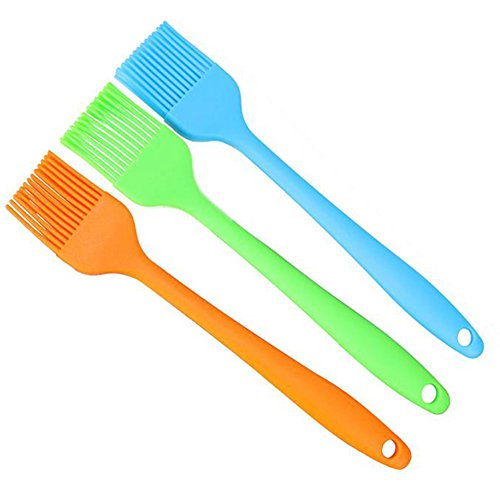 Cooking Essentials (Monbedos Silicone Pastry Brush Basting Brush,BBQ Brush,Essential Cooking Gadget 8.2 Inch Orange)