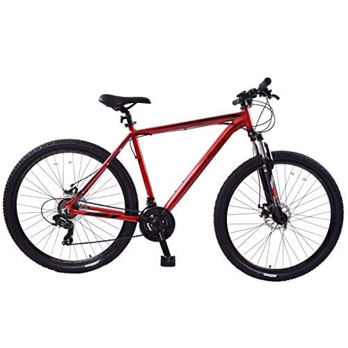 "41x7NdONulL. SS500  - Ammaco. Team 4.0 29"" 29er Mens Mountain Bike Front Suspension Disc Brakes 23"" Frame Alloy Red/Black"