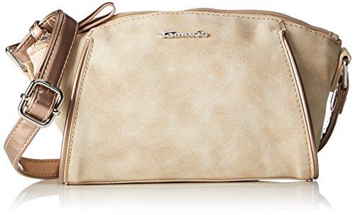 Damen-kontrast-piping (Tamaris Damen Delfina Crossbody Bag Umhängetasche, Beige (Sand Comb), One Size)