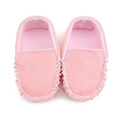Saingace Krabbelschuhe Baby-Mädchen-doppelte Velour weiche alleinige Schuh-weiche Schuhe flache Schuhe Rosa