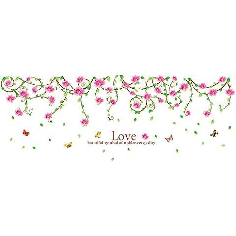 Sourcingmap-Pvc ratán flor patrón DIY Wall fondo adhesivo papel pintado, 90x 60cm