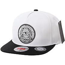 WITHMOONS Gorras de béisbol Gorra de Trucker Sombrero de Snapback Hat  Illuminati Patch Hip Hop Baseball 70dcc5a29de