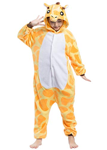 Tutina unisex onesies kigurumi pigiama pigiameria sleepwear nightclothes anime cosplay halloween costume attrezzatura animale carnevale giraffa ragazzo e ragazza bambini
