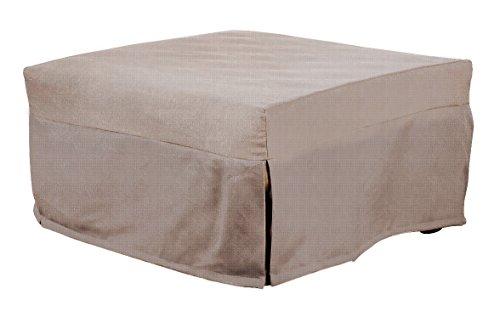 13casa - evolution c12 - pouff letto. dim: 80x80x40 h cm. col: beige. mat: metallo, poliestere.