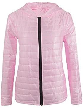 LuckyGirls ❤️• •❤️ Chaqueta de cremallera con capucha de invierno de manga larga para mujer simple una variedad...