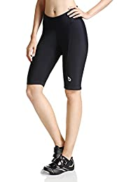 baleaf Short de cyclisme pour femme avec rembourrage noir UPF 50+