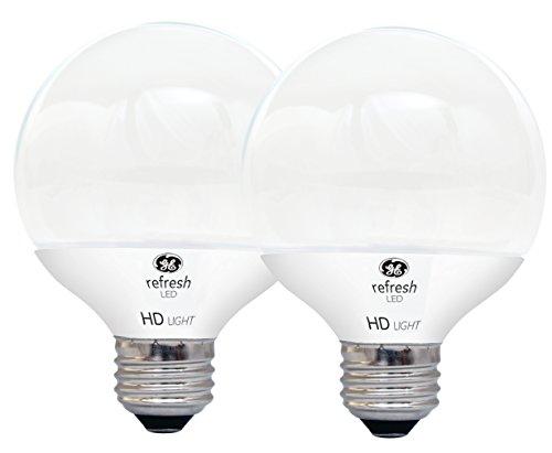 GE LIGHTING 92241LED Refresh HD 5.5(Ersatz), Gluehbirne 500-lumen G25Glühlampe mit Medium Base, Tageslicht, 2er Pack (G25-lampen)