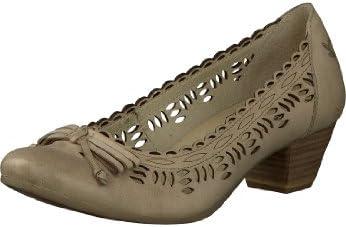 Caprice - Zapatos de vestir de cuero para mujer beige beige