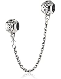 Pandora Women's 925 Sterling Silver Safety Chain Charm Bead