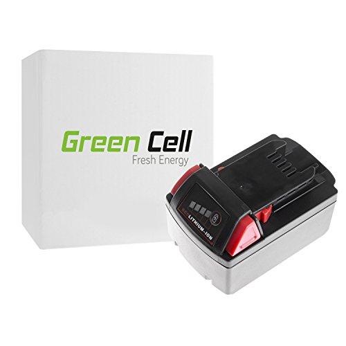 Preisvergleich Produktbild Green Cell® Werkzeug Akku für Milwaukee 2662-20 (Li-Ion Zellen 4 Ah 18V)