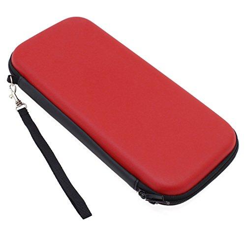 Preisvergleich Produktbild KEESIN Nintendo Switch Gehäuse Travel Schutztasche Hard Tragetasche Shell Aufbewahrungsbeutel für Nintendo Switch Console & Zubehör (Rot)