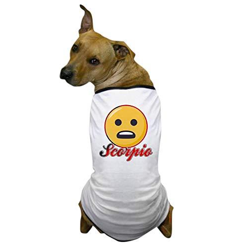 CafePress Emoji Skorpion T-Shirt für Hunde, X-Large, weiß