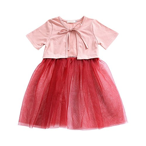 ESHOO Sommer Kinder Baby Mädchen Kurzarm vertuschen Bluse Cardigan Jacke Coat (Kinder Strand Vertuschen)