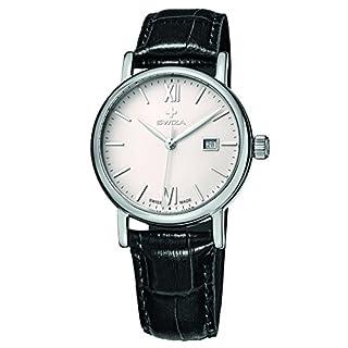 Swiza Women's WAT.0121.1002 Alza Analog Display Swiss Quartz Black Watch