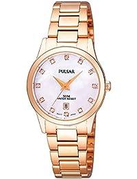 Pulsar Women's Rose Gold Stainless Steel Bracelet Watch PH7312