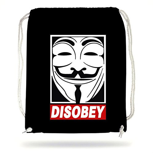 Certified Freak Anonymous Disobey Gymsack Black
