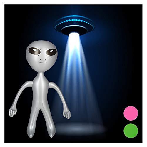 Relaxdays aufblasbares Alien, Marsmännchen Figur, Sci-Fi Partydeko, Karneval, Wasserspielzeug, Aufblasalien groß, ()