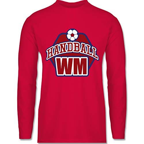 Shirtracer Handball WM 2019 - Handball WM 2019 - XXL - Rot - BCTU005 - Herren Langarmshirt