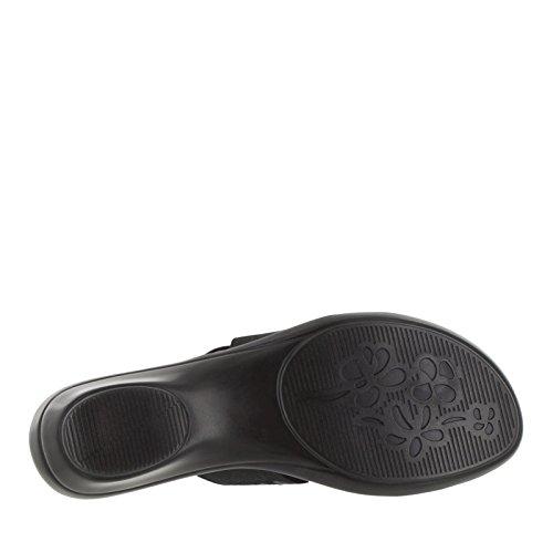 Easy Street Atessa Femmes Large Toile Sandale Black