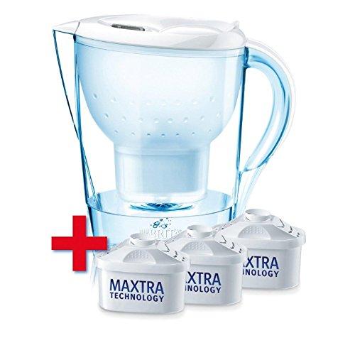 Brita, 2.4l weiß Wasserfilter Marella Cool + 3Maxtra