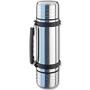 Isosteel Duo Vacuum Flask with Screw Cap and Drinking Mugs ...
