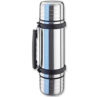 Isosteel Duo Vacuum Flask 1.0 L 18/8 Stainless Steel with Screw Cap and 2 Gates Drinking Mugs, 10x10x34.2 cm (B00QIV5QQS) | Amazon price tracker / tracking, Amazon price history charts, Amazon price watches, Amazon price drop alerts