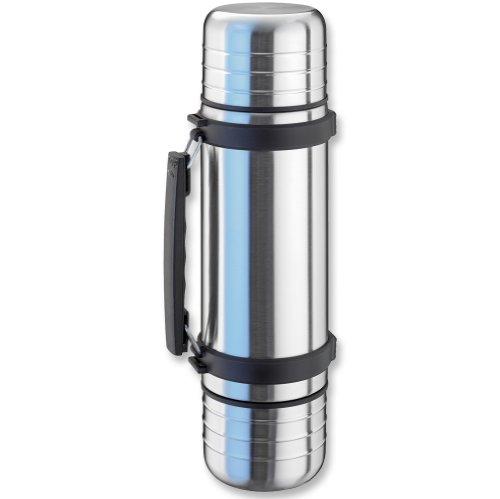 Isosteel VA-9562D Duo Vakuum-Isolierflasche mit Griff, 1,0 L
