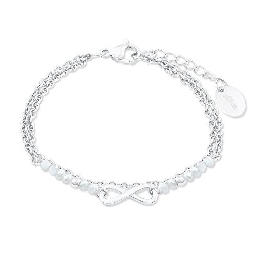 s.Oliver Armband für Damen Infinity aus Edelstahl Grau