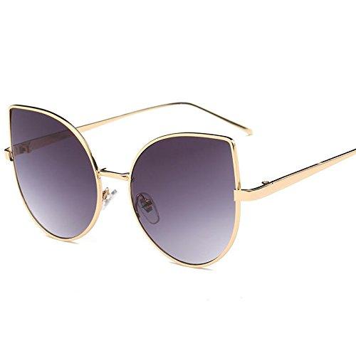HFJ&YIE&H Europäische und amerikanische Marken-Sonnenbrille personifizierte Katze Metall Sonnenbrille yurt Ms. , d