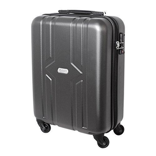 Karry Hartschalen Reise Koffer Trolley Bordgepäck Kurzurlaub Ryanair geeignet Handgepäck 30 Liter Schloss Anthrazit