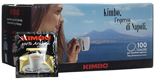 Kimbo Cialde 100{c81adaf440995de4ede37f5759e57796231d57787f65b250161907687a083ae4} Arabica Box da 100 Pezzi