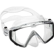 Cressi Unisex's Liberty 3 Windows Scuba Diving Masks, Clear/Black/Silver, Uni