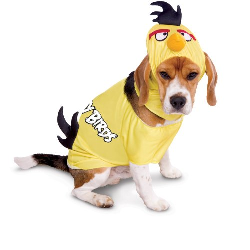Papier Magie Rovio Angry Birds Yellow Bird Pet Kost-m Medium (Hund Angry Bird Kostüm)