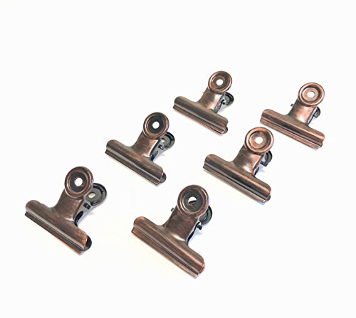 Traditionellen Bronze-finish (rustikalem Bronze Metall Scharnier Clips (6 Stück) - von barnwoodusa | aus Metall mit einem Antik Bronze Finish | traditionellen vintage-Style Home Decor | Arts & Crafts | Fotos 2inch Rustic Bronze)