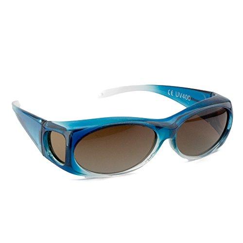 Figuretta Sonnenbrille Überbrille in Blau aus der TV Werbung