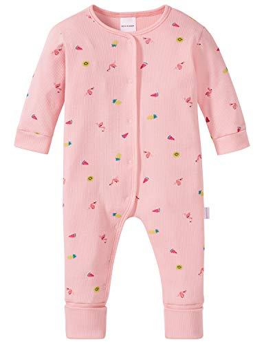 Schiesser Mädchen Baby Anzug mit Vario Zweiteiliger Schlafanzug, Rot (Rosé 506), 80 (Herstellergröße: 080)