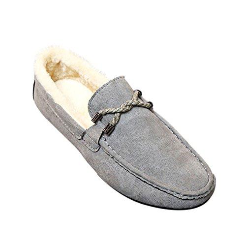 Pelle Mocassini Basso Top Piatte Fannulloni Degli Scamosciata Uomini Relax Pantofole Di Deylaying A Grigie Scarpe Tx8WdPzn7d